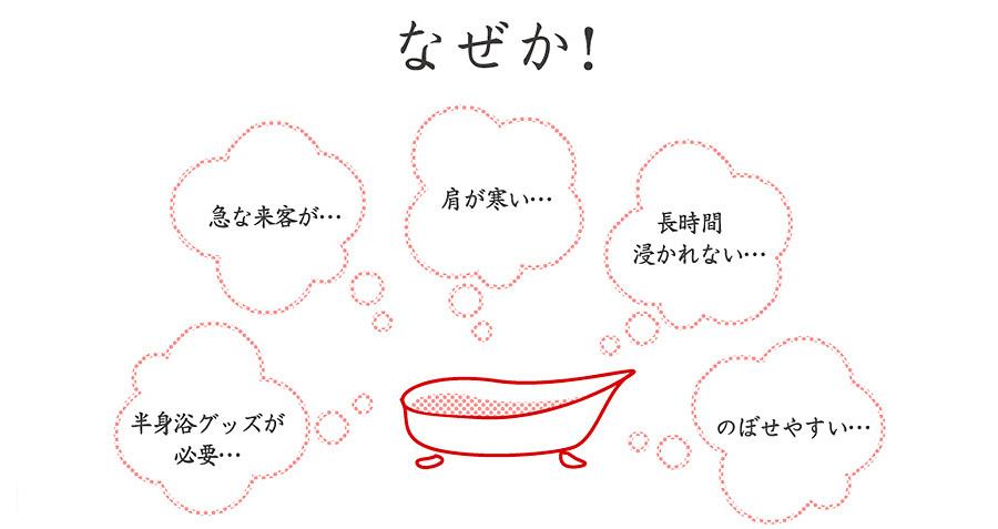 お風呂の半身浴ってなかなか続かない…なぜか?