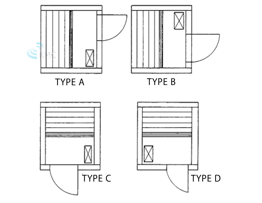 図面:TYPE A/B/C/D